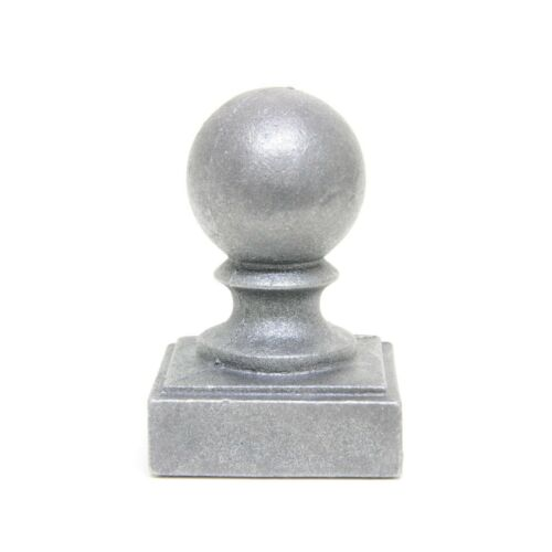 """2/"""" x 2/"""" Cast iron Ball Fence Finial Square Post Cap"""