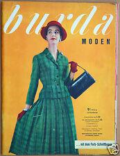 Burda Moden  9 / 1956 mit 2 Schnittbogen Modezeitschrift 50er Jahre