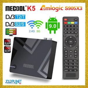 Mecool K5 Smart TV Box DVB-T2 +S2 Android 9 2GB/16GB Amlogic S905X3 4K K2 PRO