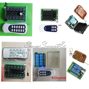 1-4-6-8-12-15-Channel-12V-315MHZ-RF-Remote-Control-Transmitter-Receiver-Module