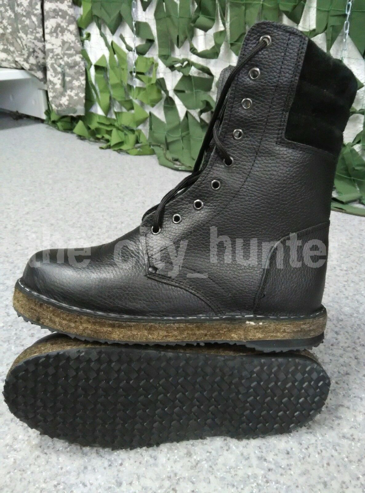 Winter leather boots. Heater fur sheepskin. Special non-freezing sole. New.