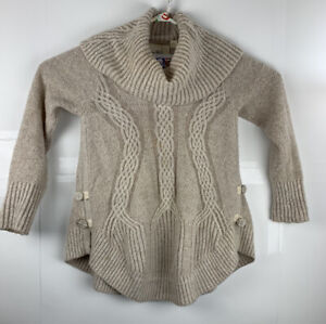 Angel of the North Anthropologie Womens Sweater Tan Oversized Cowl Neck Small