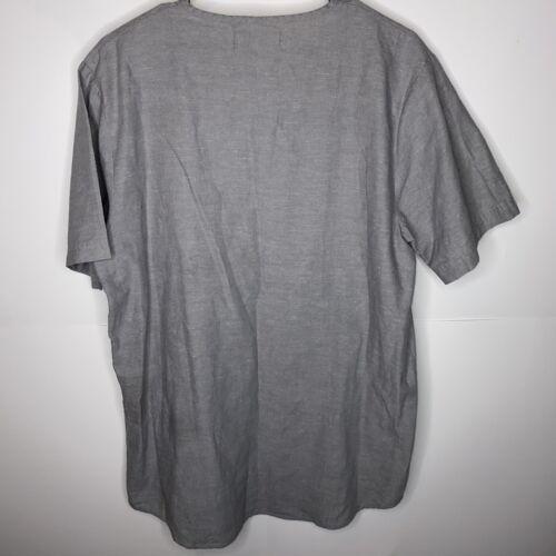 Rochambeau Gray minimalist linen shirt L lagenlook