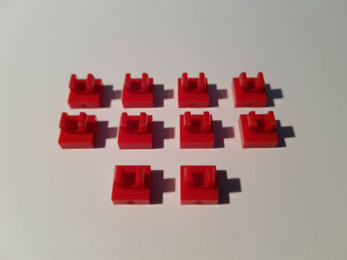#AC04 City Creator Lego 10 x 15712 Plate Tile 1 x 1 Red with Clip 6072998