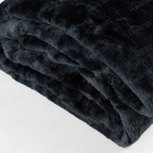Large de luxe doux fourrure throw blanket-lit canapé maison simple double king