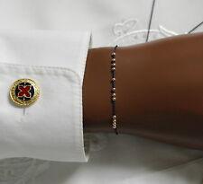 Freundschaftsarmband Gelbgold Perlen Wunscharmband Nylon Armband