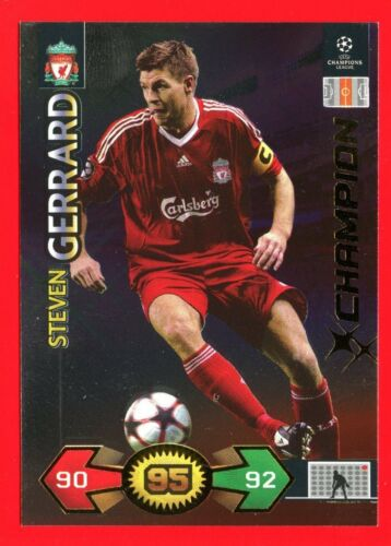CHAMPIONS LEAGUE 2009-10 Panini 2010 Card Champion LIVERPOOL GERRARD