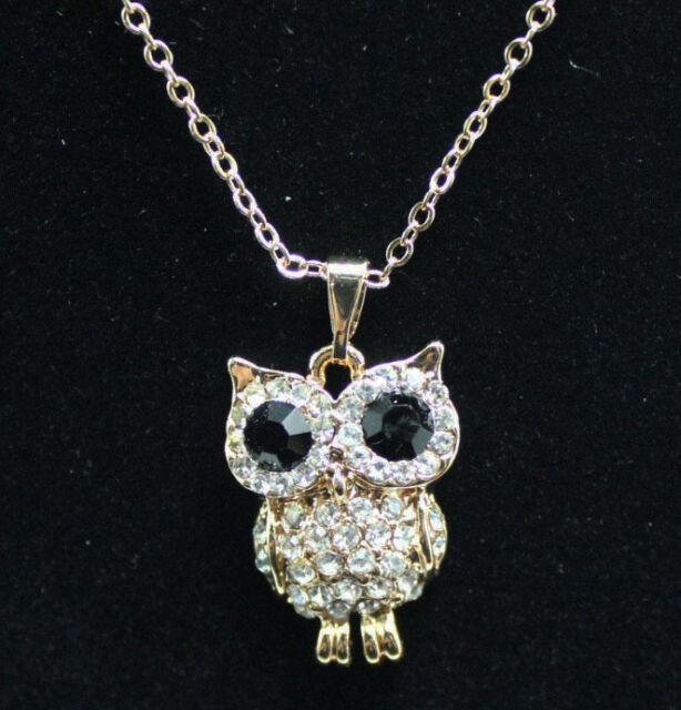 Europe Style plating 14k  owl necklace Christmas gift k218