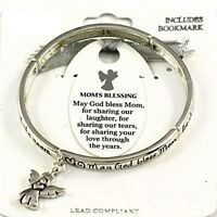 Mom's Blessing Angel Charm Stretch Bracelet-bookmark Included