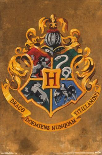 HARRY POTTER HOGWARTS CREST POSTER 22x34 BOOKS ROWLING 14428