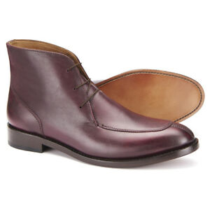 f889ec82765 Details about Samuel Windsor Mens Shoes Boots Brown Leather Lace Up Rubber  Sole UK Sizes 5-14