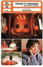 FICHE CINEMA : EPOUSES ET CONCUBINES - Gong Li,Z.Yimou1991 Raise The Red Lantern