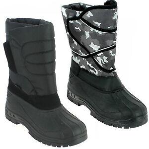 NUOVO-MARCHE-boots-UOMO-RAGAZZO-Stivali-invernali-sci-Scarpe-SNOW-MIMETICO-46