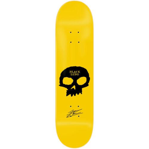 "Zero Skateboard Deck Forrest Signature Skull Yellow 8.25/"""