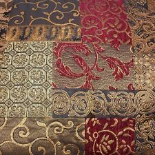 CROSCILL Galleria QUEEN COMFORTER SET NWT 5pc PILLOW Brown Red PATCHWORK Floral