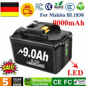 2x 9,0Ah 18V Li-ion Ersatz akku Für Makita BL1830 BL1860B BL1850B BL1840B ML184