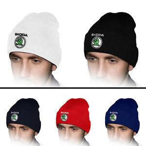 Skoda-Tricote-Chapeau-Bonnet-Auto-Logo-Brode-Casquette-Baseball-Cap-Homme-Femme