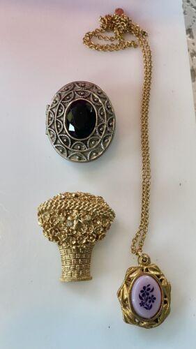 Lot Of Vintage  Avon Perfume Pin Pendant Necklace