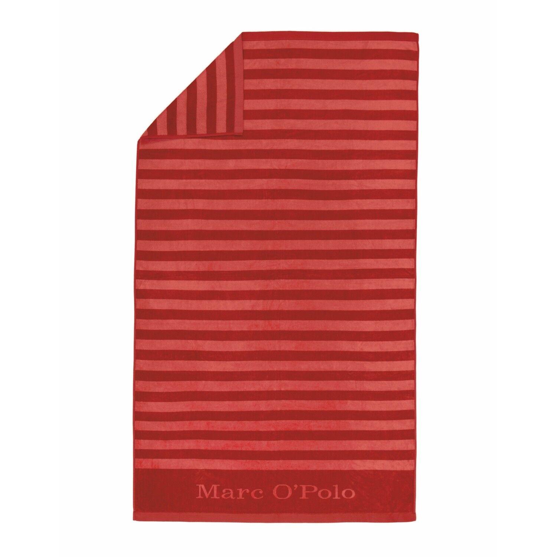 Marc O'Polo Strandlaken Strandlaken Strandlaken Saburo Rot Strandtuch Liegetuch Badetuch 100x180 cm 5f1e23