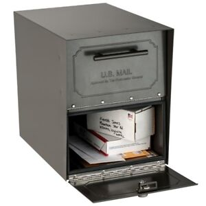 Extra Large Parcel Locking Mailbox Post Mount Steel Security