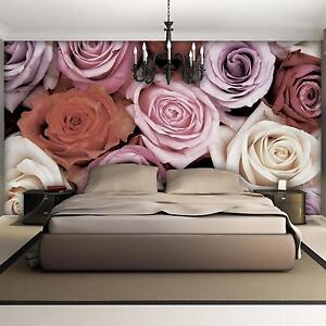 poster tapeten fototapete wandbild tapeten rosen rosa. Black Bedroom Furniture Sets. Home Design Ideas