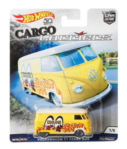 Hot Wheels 1//64 Car Culture Cargo Carriers Volkswagen T1 Panel Bus Mooneyes