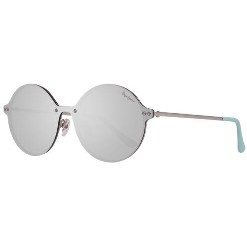 Pepe Jeans Metall-Sonnenbrille Verspiegelt Monoscheiben-Style Silber 100/% Schutz