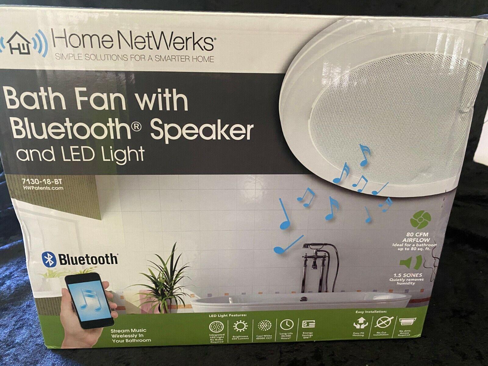 White 70 Cfm Bluetooth Stereo Speaker Exhaust Bathroom Exhaust Fan Led Light For Sale Online Ebay