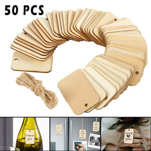 50-100pcs-Wooden-Labels-Craft-Shape-Unfinished-Rectangle-Blank-Gift-Tags-Party