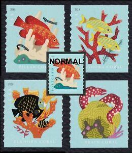 #5367-70 Coral Arrecifes, Aqua Color Omitido, Nuevo Error Como Visto En Linn's