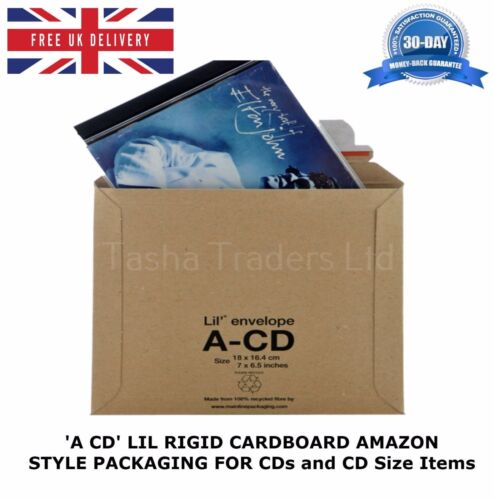 1000 x ACD LIL CD SIZE RIGID CARDBOARD AMAZON STYLE MAILERS ENVELOPE C0 JL0 ACD