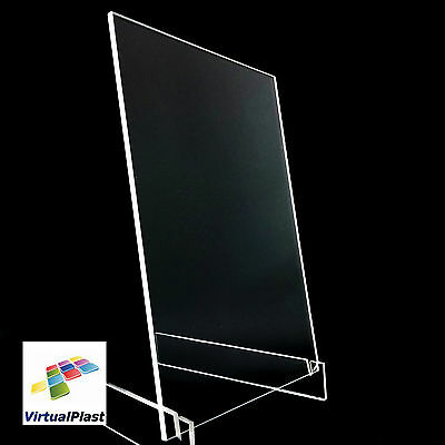 4mm Clear Perspex Acrylic Plastic Plexiglass Cut 210mm x 300mm A4 Sheet Size