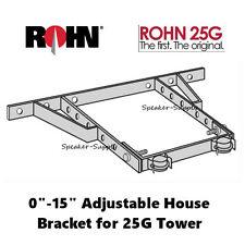 "ROHN HB25AG 25G Adjustable House Bracket 0"" - 15"" Antenna Tower Mount Mounting"