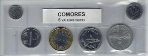 Comores Série De 6 Pièces De Monnaie