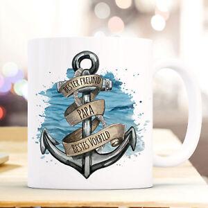 Geschenk- & Werbeartikel Büro & Schreibwaren Hell Tasse Becher Anker Banderole & Bester Freund Papa Bestes Vorbild Kaffee Ts864