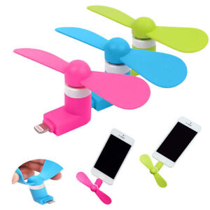 Portable-CellPhone-Mini-Fan-Cooling-Cooler-For-iPhone-7-Plus-Micro-USB-Android