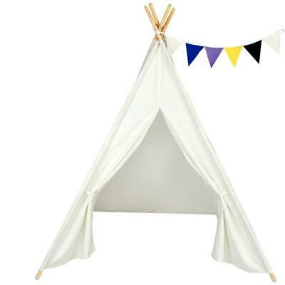 Pillowfort handmade canopy /& poles for boys /& girls Indoor play tent for kids indian teepee baby /& toddler playhouse in natural canvas