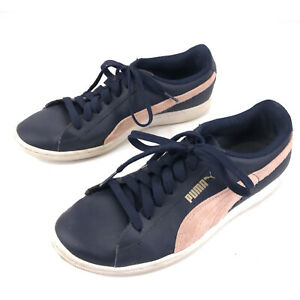 Puma women's size 8 blue pink and white