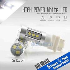 2X 1200 Lumens 3157 50W SRCK CK High Power LED White Turn Signal Light Bulbs