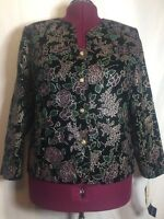 With Tags Maggie Mcnaughton 20w (xl? 2x?) Women's Evening Jacket Floral Top