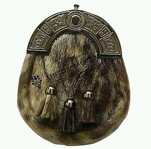 Neuf Kilt Sporran Costume Complet Habillé Peau De Phoque Cantle Celtique Antique