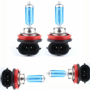 4-Pack-H11-6000K-12V-Xenon-Gas-Halogen-Headlight-White-Light-Lamp-Bulbs-100W-New