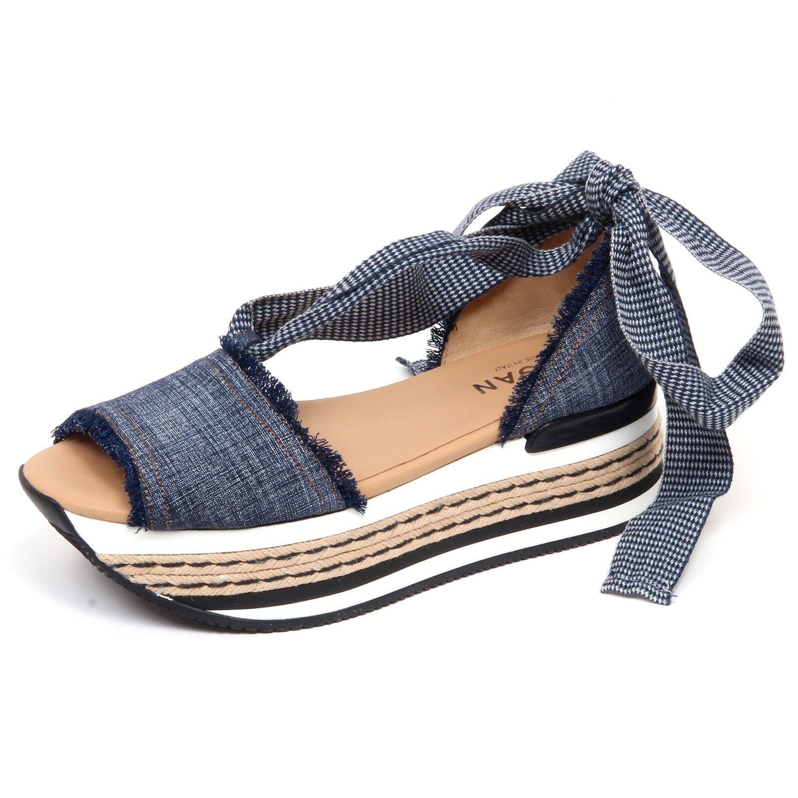 F4134 sandalo mujer tissue azul Jeans Hogan h360 zapatos Sandal Sandal Sandal zapatos Woman  solo cómpralo