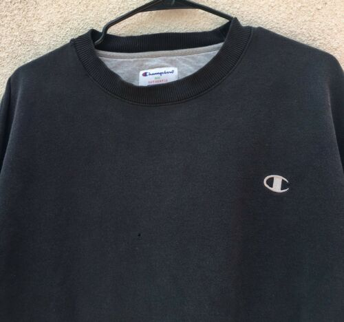 Logo Sweatshirt Black Xl C Champion Mens Classic xY0qSwq1A5