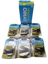 6 Pk Dymo Colorpop Label Maker Tape 12 5 By 10 Feet Yellow Glitter T4