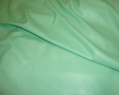 Vinyl Faux Leather Mint Two Way Stretch Clothing Dance Costume fabric per yard