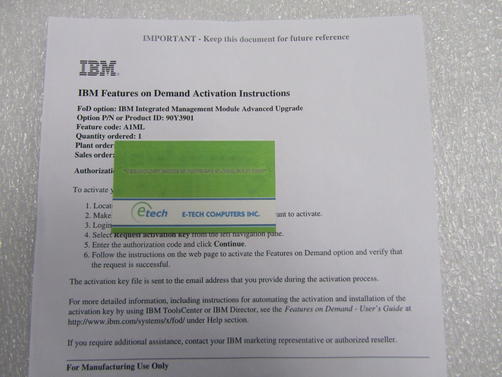 ibm imm activation key