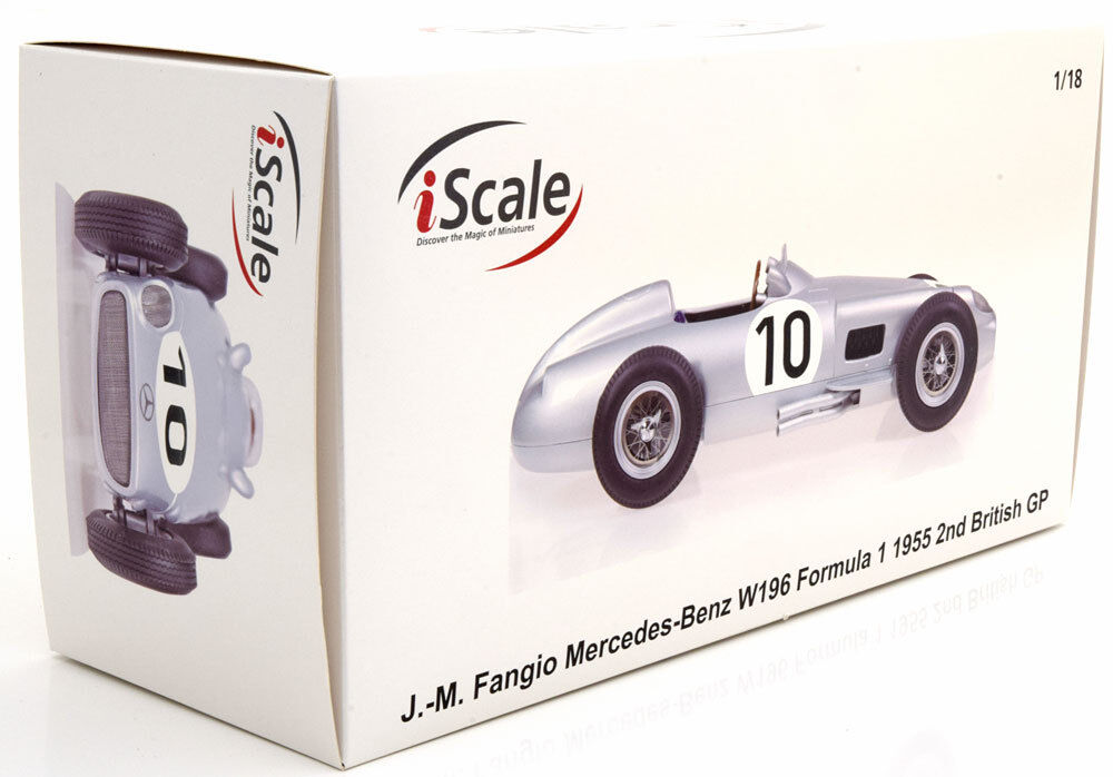 I Scale Scale Scale Mercedes Benz W196 GP Great Britain 1955 World Champion Fangio  18 73ea0a