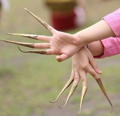 1Set Unique Brass Claw Nails for Thai Traditional Dance Costume Belly Jewelry