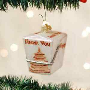Chinese-Take-Out-Christmas-ORNAMENT-Stocking-Stuffer-Chop-Suey-Asian-Food-New